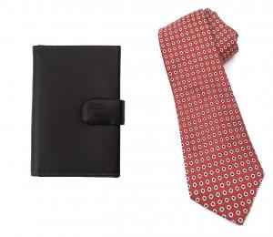 Set Black Gentleman Portcard Ungaro si Cravata matase9