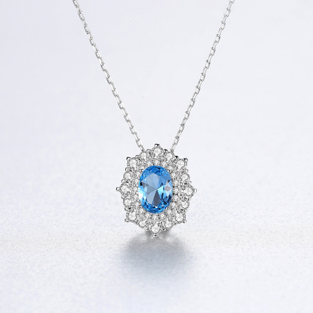 Set Cercei Colier Royal Topaz Blue7