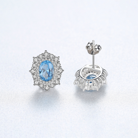 Set Cercei Colier Royal Topaz Blue6