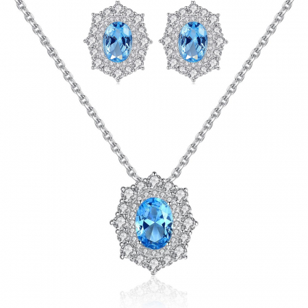 Set Cercei Colier Royal Topaz Blue0
