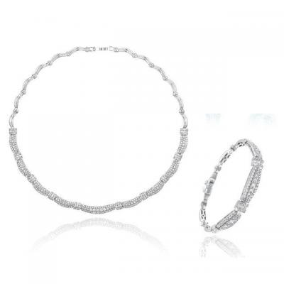 Set Borealy Diamonds Colier si Bratara Ricci0