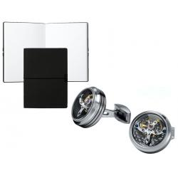 Set Butoni Tourbillon Luxury Silver si Note pad Black Hugo Boss - personalizabil