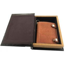 Set cadou caseta-carte si Portofel personalizabil piele naturala Friedrich, Made in Germany
