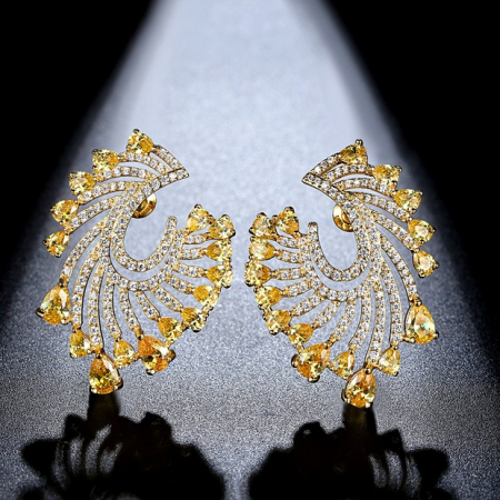 Cadou Esarfa din Matase Wild Ungaro & Cercei Precious Yellow Crystals by Borealy3