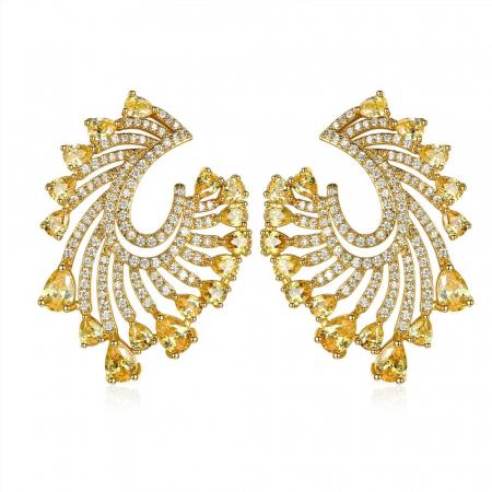 Cadou Esarfa din Matase Wild Ungaro & Cercei Precious Yellow Crystals Geanta5