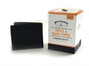 Set Modern Man cosmetice Scottish Fine si portofel personalizabil piele naturala2