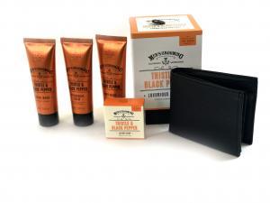 Set Modern Man cosmetice Scottish Fine si portofel personalizabil piele naturala