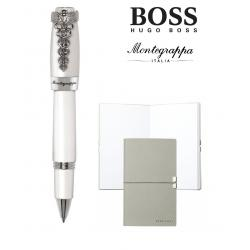 Set Caduceus Rollerball Montegrappa si Note Pad Hugo Boss0