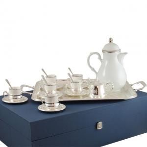 Set Cafea 6 persoane Silver Plated by Chinelli - made in Italy