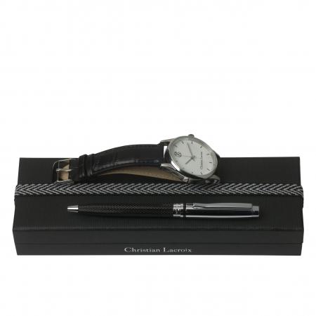 Ceas Christian Lacroix, Pix Treillis Desk Christian Lacroix si Butoni Azure Clock by Borealy0