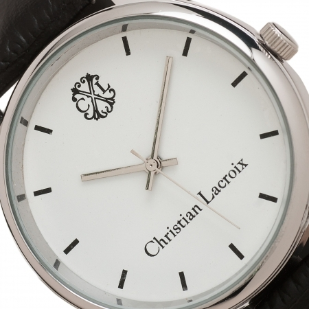 Ceas Christian Lacroix, Pix Treillis Desk Christian Lacroix si Butoni Elegant Round Silver by Borealy3