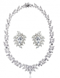 Set Cercei şi Colier Luxury Bridal Borealy0