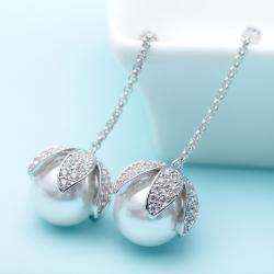 Set Cercei si Colier Statement Luxury Silver1