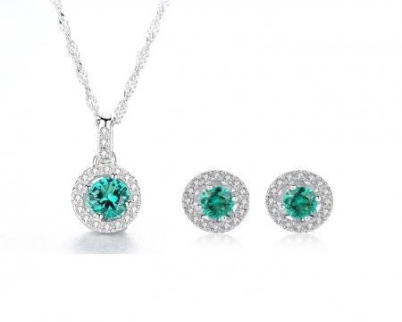 Set Colier şi Cercei Russian Sapphire Argint 925 by Borealy0
