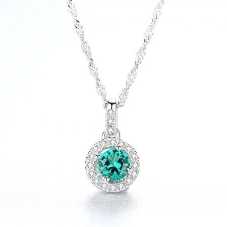Set Colier şi Cercei Russian Sapphire Argint 925 by Borealy2