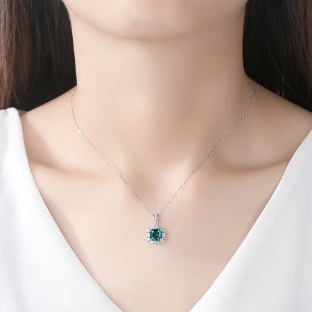 Set Colier şi Cercei Regina Emerald1