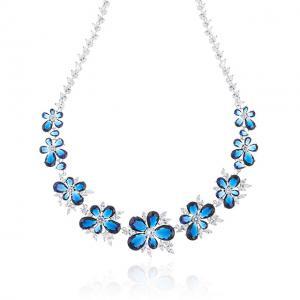Set Colier Cercei Blue Iris Hope by Borealy2
