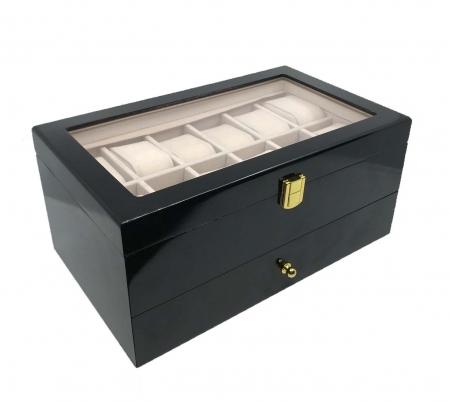 Cutie 22 ceasuri Dark Luxury Wood - personalizabil [6]