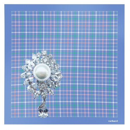 Set Esarfa Blue Harlow Cacharel si Brosa Pearl Blooming [0]