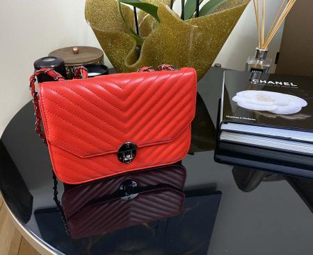 Red Glam Set Geanta, Portofel si Esarfa Casmir1
