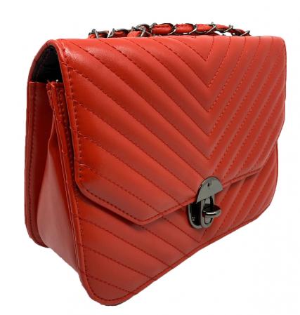 Red Glam Set Geanta, Portofel si Esarfa Casmir5