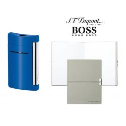 Set Minijet Lighter Blue S.T. Dupont si Note Pad Hugo Boss