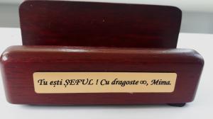 Set multifunctional pentru birou Antique Mahogany cu 8 accesorii12
