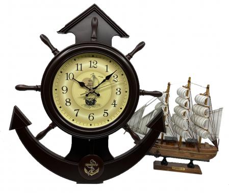 Boatman's Brown Clock Ship [0]