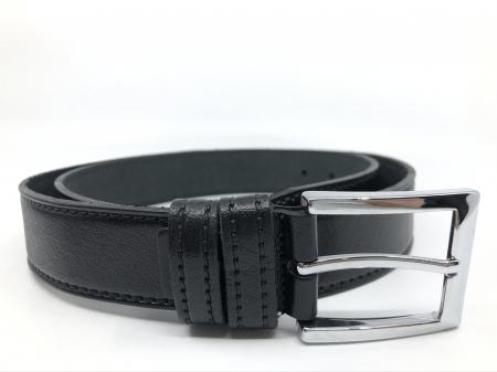 Leather Set: WestPolo Borseta, Portofel si Curea Negre Piele Naturala6