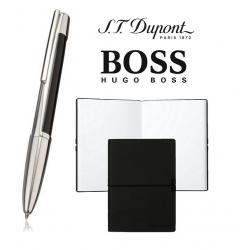 Set S.T. Dupont Defi Multifunction Black & Palladium Pen si Note Pad Black Hugo Boss