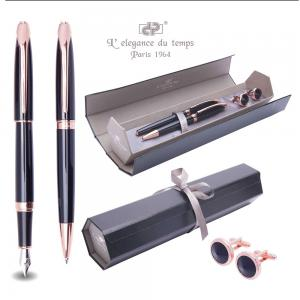 Cadou Business Black & Rose Gold Stilou, Pix si Butoni