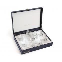 Set Timeless Whisky Crystal Bottle Silver Plated by Chinelli