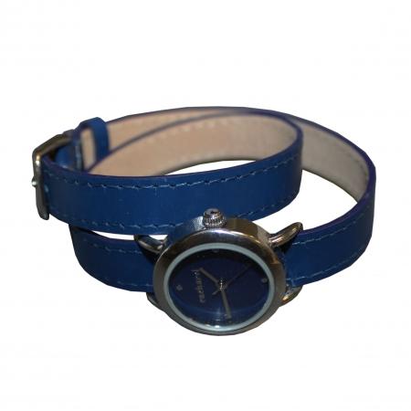 Ceas Cacharel Blossom Bleu si Esarfa Casmir Bleumarine4