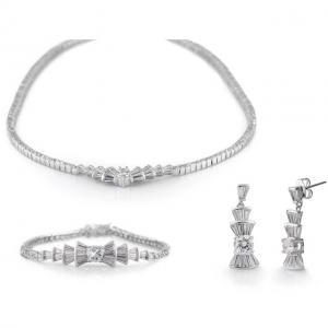 Marquise Cluster Set Colier, Cercei si Bratara Diamonds0