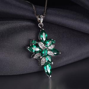 Borealy Precious Smarald Set Inel, Pandantiv si Cercei Argint 9253