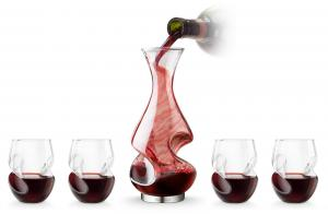 Cadou Decanter & Glasses Conundrum Aerator