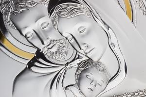 Cadou Valenti Argint Icoană şi Suport de Lumânare - Made in Italy1