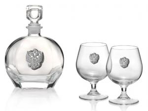 Set Cognac Eagle for Two by Valenti - Made in Italy0