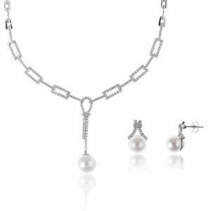 Set Colier şi Cercei Brilliant Pearl0