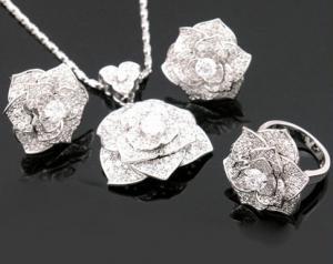 Luxury Rosa Set Cercei Borealy Colier Si Inel6
