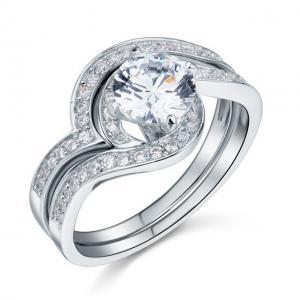Set Inel şi Verighetă Borealy Argint 925 Luxury Princess Marimea 7,53