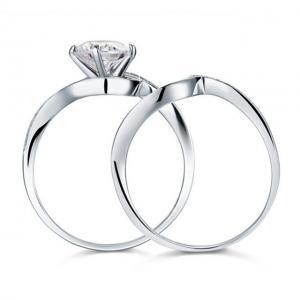 Set Borealy Inel şi Verighetă Luxury Princess Argint 925 Marimea 63