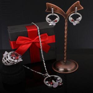 Set Borealy Medalion, Cercei si Inel Luxury Paradise1