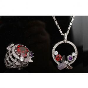 Set Borealy Medalion, Cercei si Inel Luxury Paradise10