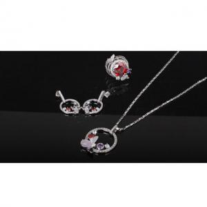 Set Borealy Medalion, Cercei si Inel Luxury Paradise11
