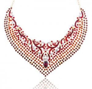 Cardinal Paradise Luxury Borealy Set colier cercei1