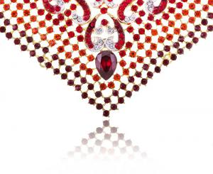 Cardinal Paradise Luxury Borealy Set colier cercei3