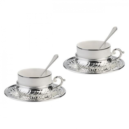 American Silver Coffee Set for Two by Chinelli [1]