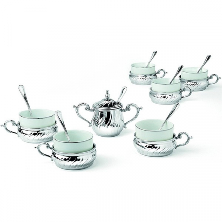Silver Tea Set for Six by Chinelli - made in Italy1