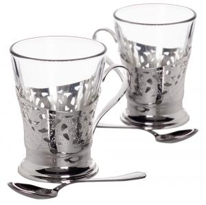 Silver Tea Cups for Two by Chinelli - made in Italy1